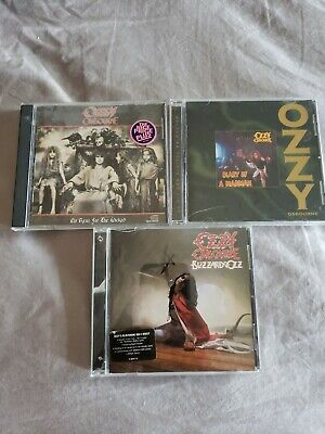 Ozzy Osbourne CD lot no rest for the wicked diary of a madman Blizzard of ozz 💩