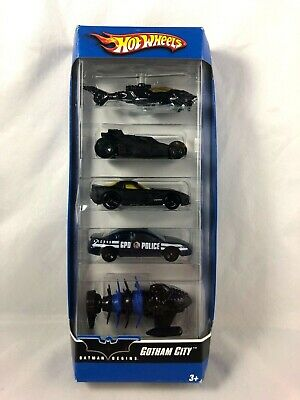 Hot Wheels - Batman Begins - Gotham City - 5 Vehicle Set - DC Comics