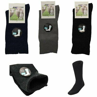 6x Merino Wool Loose Diabetic Top Thermal Socks Medical Wide Comfort Circulation