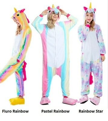 Kid Adult Unicorn Onesie15 Sleepwear Unisex Animal Costume Cosplay Pyjamas Women