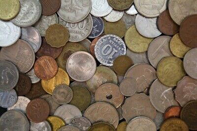 Bulk Lot of 300 World/Foreign Coins (2.5kg)