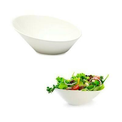 4x Slanted Bowl 21cm Maxwell & Williams White Bistro Salad Chips Soup Cereal