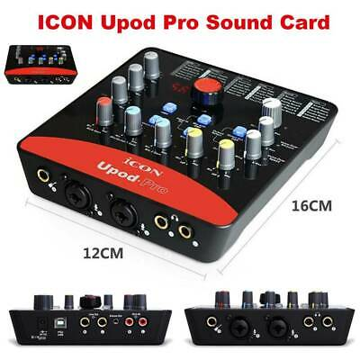 ICON Upod Pro USB Record Sound Card Audio USB Recording Streaming Interfac