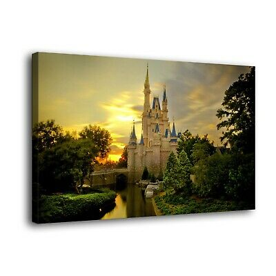 """Disney castle Paintings HD Print on Canvas Home Decor Wall Art Picture 16""""x24"""""""