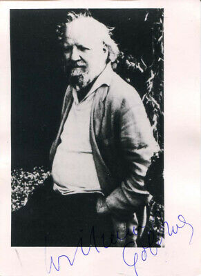 William Golding autograph novelist Nobel Prize LIT 1988, signed photo