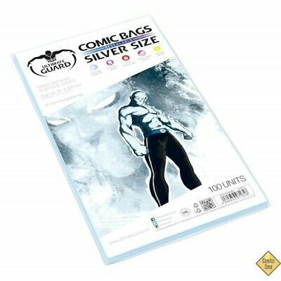 POCHETTES COMICS REFERMABLES (SILVER SIZE) (100) KIOSQUE V.F. - Ultimate Guard -