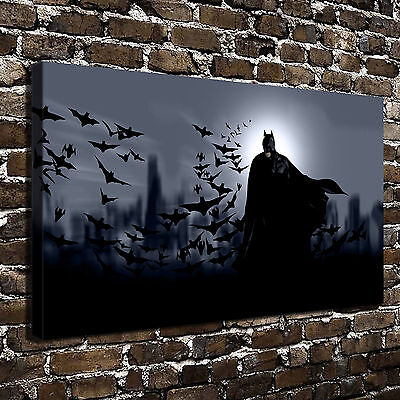 """DC Batman Paintings HD Print on Canvas Home Decor Wall Art Pictures 16""""x28"""""""