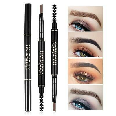 2 in 1 Waterproof Drawing Eye Brow Eyeliner Eyebrow Pen Pencil Makeup Brush CN