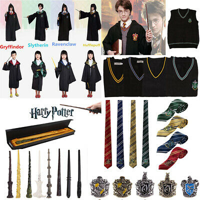Harry Potter Cosplay Costume Mantello Mantella Sciarpa Cravatta Bacchetta Magica