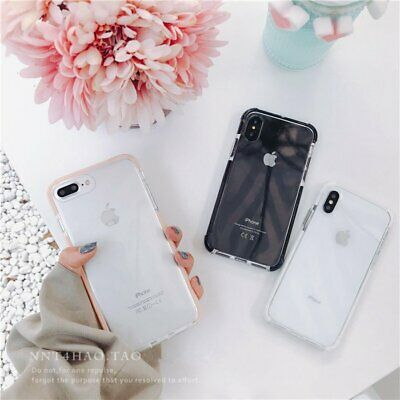 Clear Shockproof Soft Bumper Silicone Case Cover For iPhone 11 Pro Max 11 6 8 +