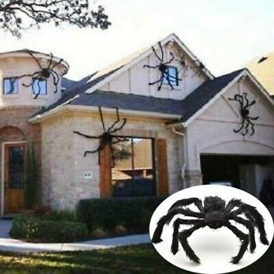 Spider Halloween Decoration Haunted House Prop Outdoor Black-Giant 75cm US