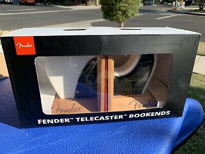 Fender White & Black Telecaster Book-Ends New In Box Bookends