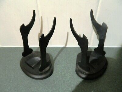 Pair of Antique Victorian Plate Cup Display Stand Holder Oriental