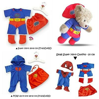 Teddy Bear Clothes Boy Girl Super Hero Outfit fit Build a Bear 20 & 38 cm