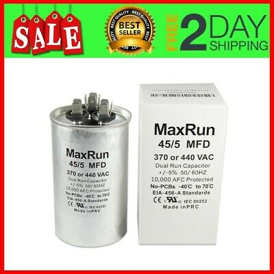5x 25//5 MFD 370 Volt Dual Round Run Capacitor for Carrier 38AYC0183000021