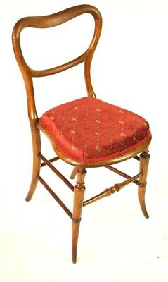 Vintage Walnut Balloon Back Chair - FREE Shipping [5498]