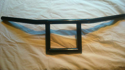 "1"" Square T Bars 6"" Rise Handlebars  In Black Custom Made For Harley Bobber Chop"
