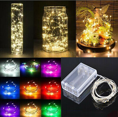 New 20//30//50 Battery LED Red Fairy String Lights Micro Rice Wire Copper Party