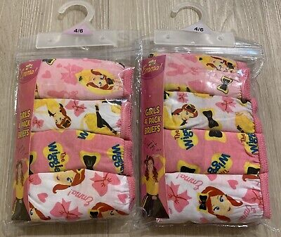8x Girls size 4-6 EMMA WIGGLES Knickers / Underwear / Briefs *NEW* Cotton