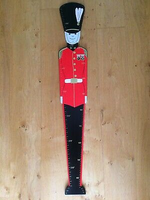 Wooden Painted Soldier Height Chart