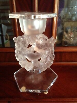 Lalique Mesanges Candle Holder. Perfect Condition