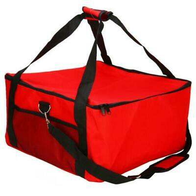 Pizza Cake Delivery Bag Picnic Package Red Insulated Thermal Food Storage Holder