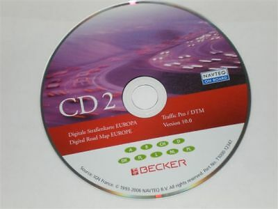 NAVI CD, BECKER  Traffic Pro / DTM 10.0 MITTELEUROPA Low Speed