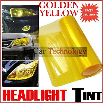 10m Golden YELLOW Vehicle Headlight Tail Lights Tinting Wrap Protection Film