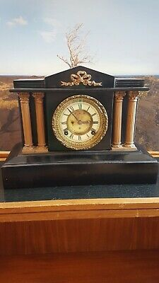 Antique Vintage Ansonia Clock Co New York Clock *
