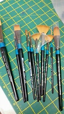 Daler Rowney assorted sized paint brushes x 10