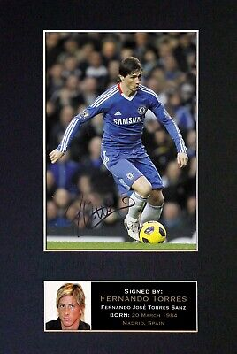 #37 FERNANDO TORRES Reproduction Signature/Autograph Mounted Signed Photograph