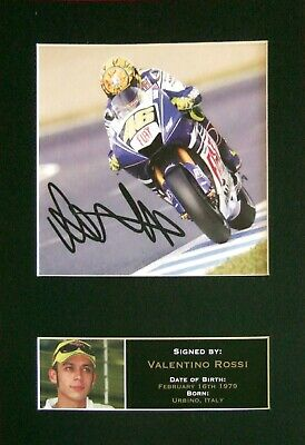 #33 VALENTINO ROSSI Reproduction Signature/Autograph Mounted Signed Photograph