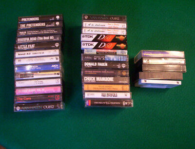 Vintage music cassette tapes, 31 total, Various Artist 70's, 80's, and 90's