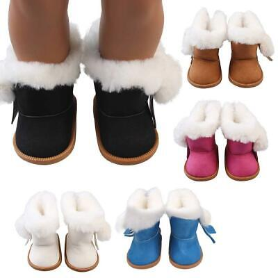 1pair High Quality Plush Velvet Boots For 18-Inch Girl American Doll Toy Clothes