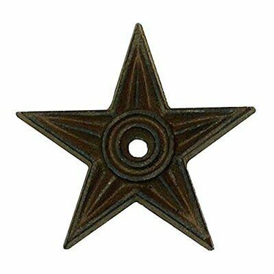 Cast Iron Star Center Hole Medium Set of 6 Rustic Candle Holder Primitive