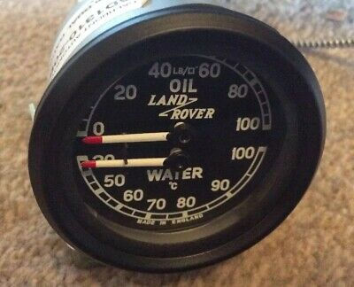 LAND ROVER NEW SMITHS DUAL TEMP AND OIL PRESSURE Gauge oC LR INSIGNIA
