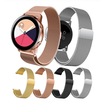 For Samsung Galaxy Watch Active2 40/44mm Strap Milanese Stainless Watch Band