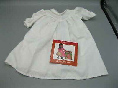 """1994 American Girl Addy Walker's White Nightgown - Retired For 18"""" Dolls"""