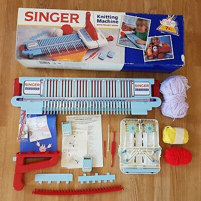 SINGER Knitting Machine with Project Book - Rare Discontinued - Kids Art Craft