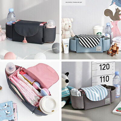 1X Oxford Fabric Baby Stroller Storage Bag Buggy Pushchair Cup Diaper Hanging AU