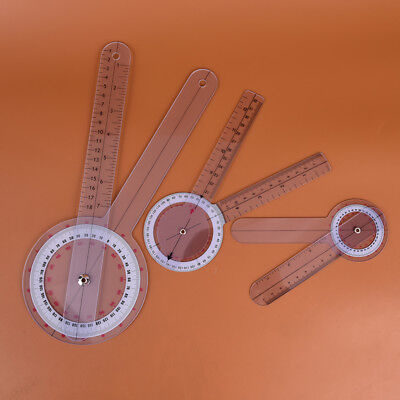 3pcs 6/8/12inch 360 degree protractor angle medical ruler spinal goniometer@BPTW