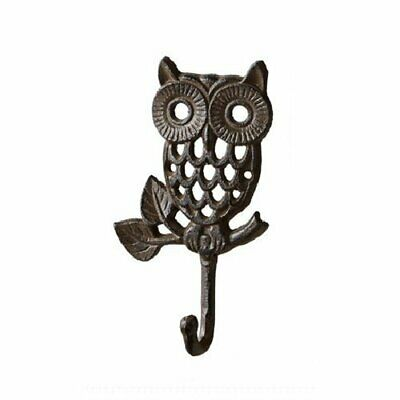 Cast Iron Owl Wall Hook/ Hats Bag Key Coat Vintage Hook, Home Style A Thin