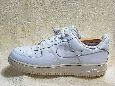 Nike Air Force 1 mens Street trainers Leather White UK 9 EU 44