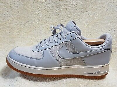 Nike Air Force 1 mens Street trainers Leather Grey/White UK 10 EU 45