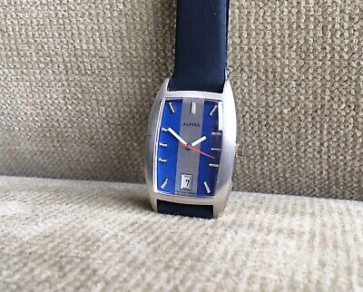 ALPINA - trendige unisex Armbanduhr 29,5 mm mit AS 1950 ca. 1968 nos