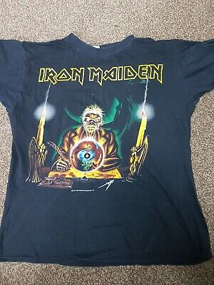 Iron Maiden Seventh Son Tour Shirt Bought at gig genuine not a replica Large