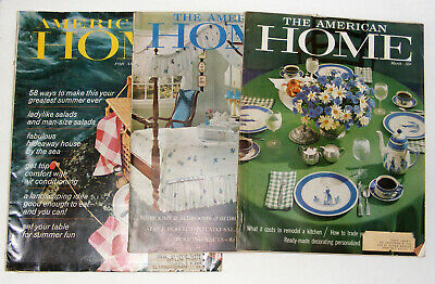 3 Vintage THE AMERICAN HOME Magazines - March & May 1960 and June 1966