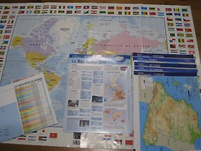 atlas / carte du monde / cartes pays / fiches pays /collection atlas /géographie