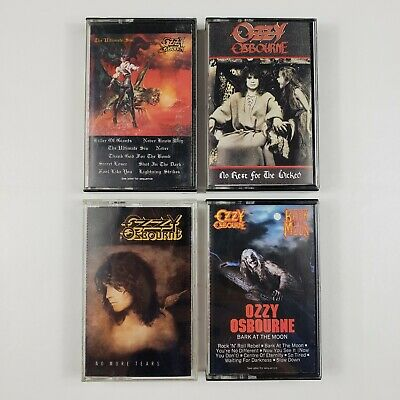 Ozzy Osbourne Cassette No More Tears No Rest for the Wicked Bark at the Moon VG