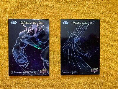 2019 Wolverine And Falcon Upper Deck Marvel Premier Written In The Stars Inserts